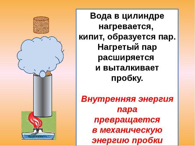 100⁰ С 60⁰ С Металлический цилиндр передал воде часть своей внутренней энерг...