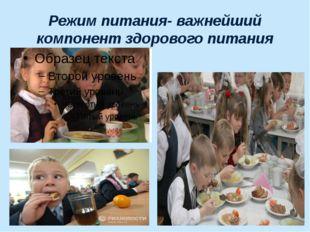 Режим питания- важнейший компонент здорового питания