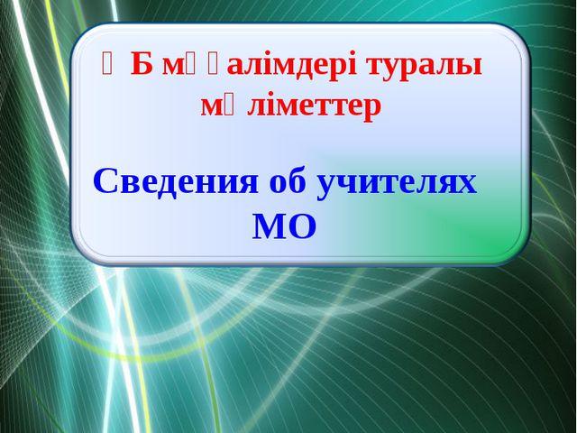 ӘБ мұғалімдері туралы мәліметтер Сведения об учителях МО ProPowerPoint.Ru