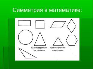 Симметрия в математике: