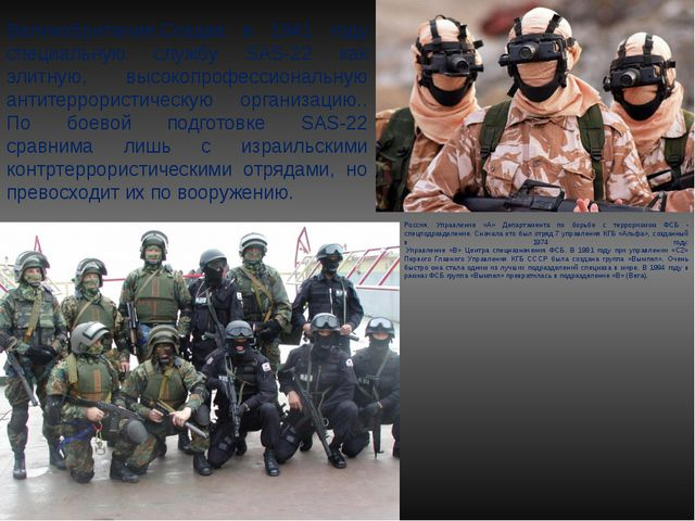 Россия. Управление «А» Департамента по борьбе с терроризмом ФСБ - спецподразд...