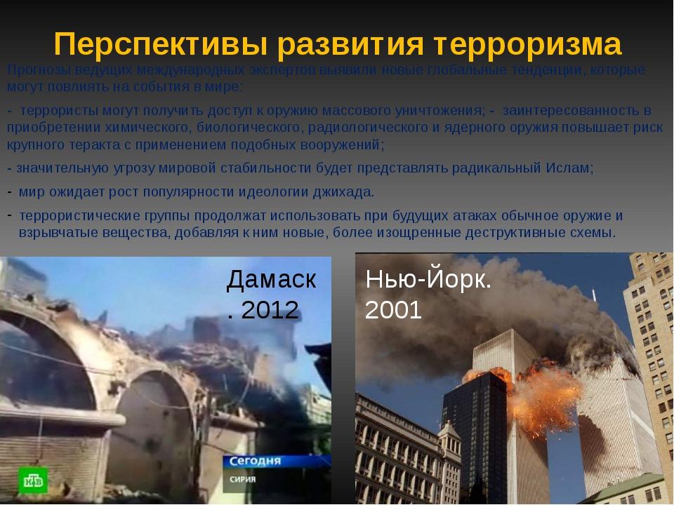 Перспективы развития терроризма Прогнозы ведущих международных экспертов выяв...