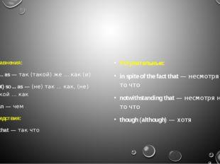 Сравнения: as ... as— так (такой) же ... как (и) (not) so ... as— (не) так