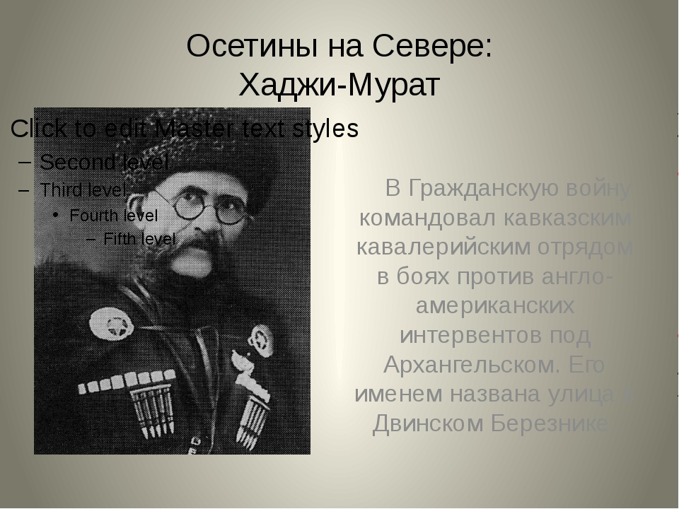 Осетины на Севере: Хаджи-Мурат В Гражданскую войну командовал кавказским кава...