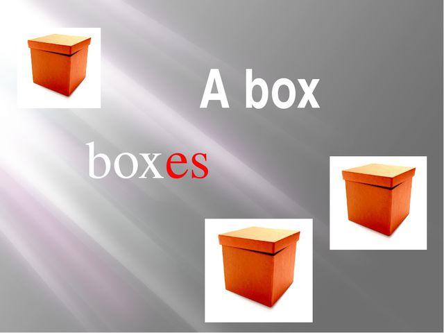 A box boxes