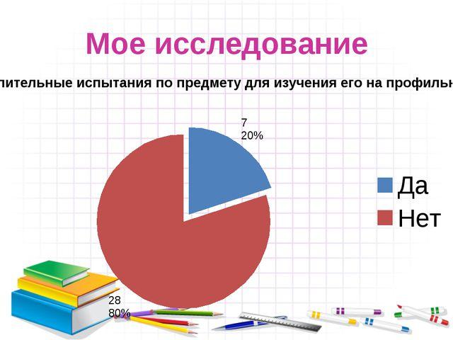Мое исследование