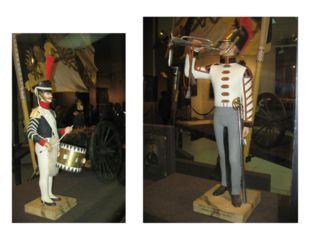 В первом зале можно рассмотреть военную технику и солдат в миниатюре, увидеть
