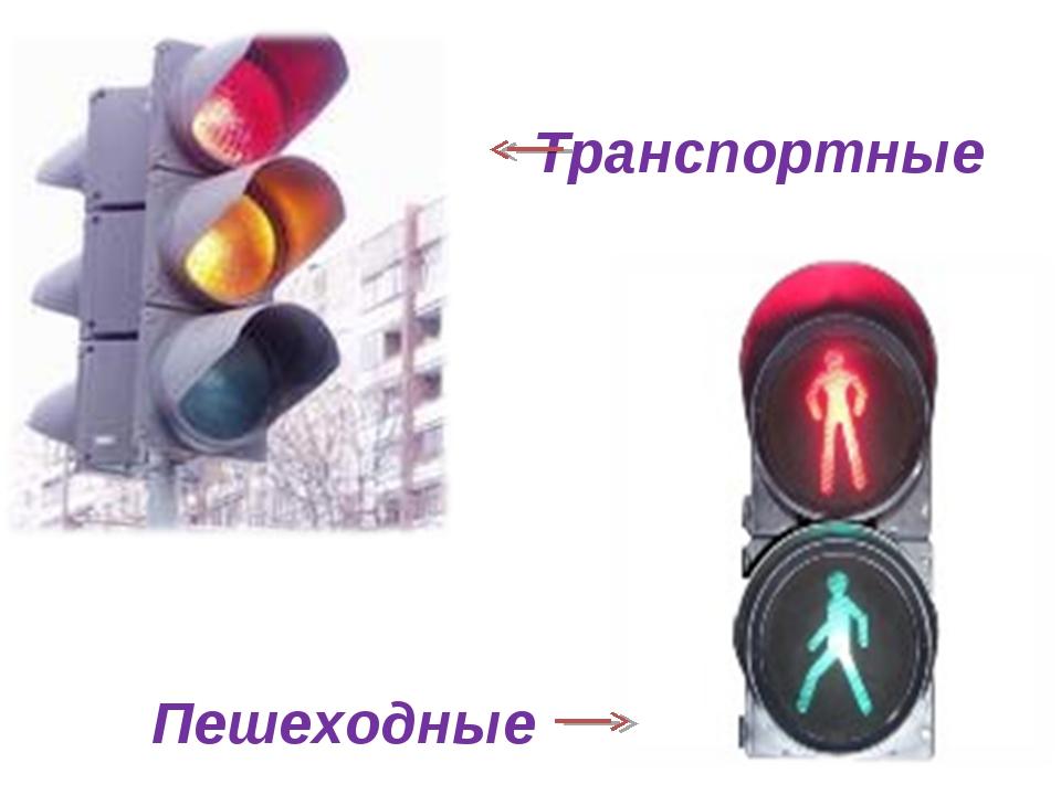 Транспортные Пешеходные