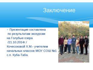 Презентация составлена по результатам экскурсии на Голубые озера /21.10.2014г