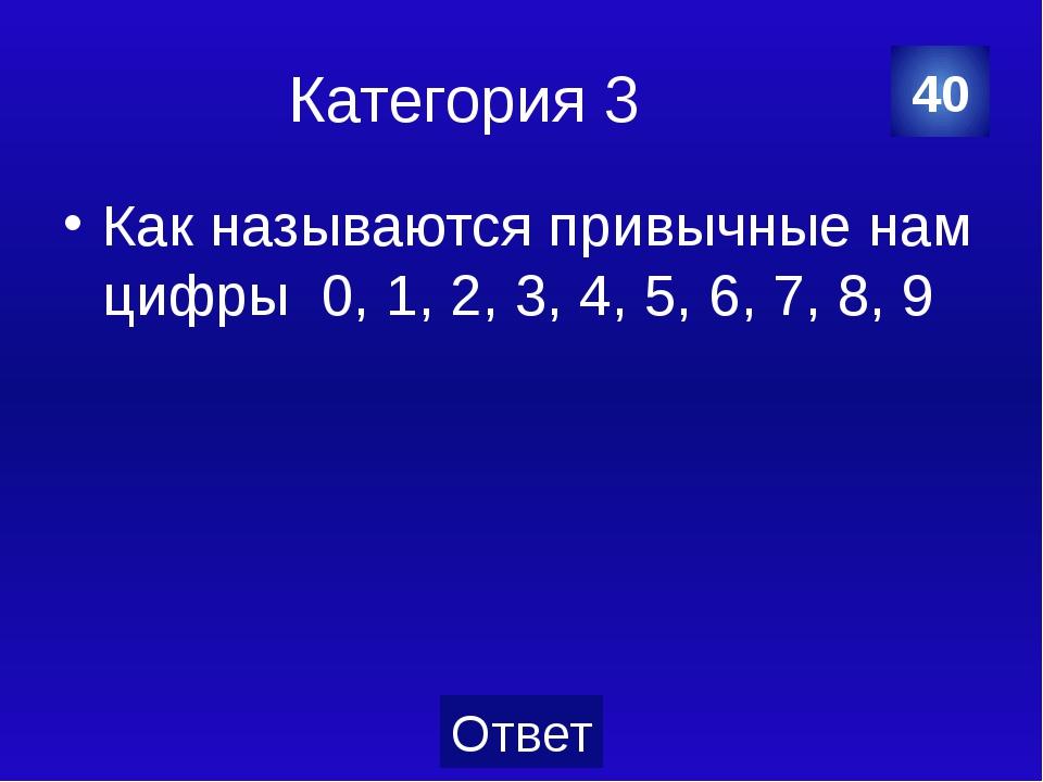 Категория 4 Локоть = 45 см 10 Категория Ваш ответ