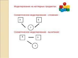 Моделирование на наглядных предметах: Схематическое моделирование - сложение