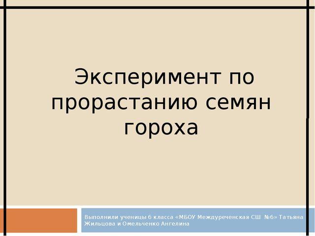 Выполнили ученицы 6 класса «МБОУ Междуреченская СШ №6» Татьяна Жильцова и Оме...