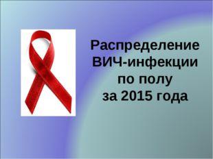Распределение ВИЧ-инфекции по полу за 2015 года