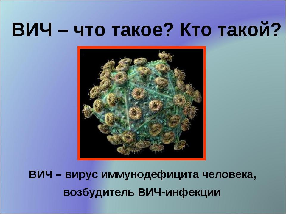ВИЧ – вирус иммунодефицита человека, возбудитель ВИЧ-инфекции ВИЧ – что такое...