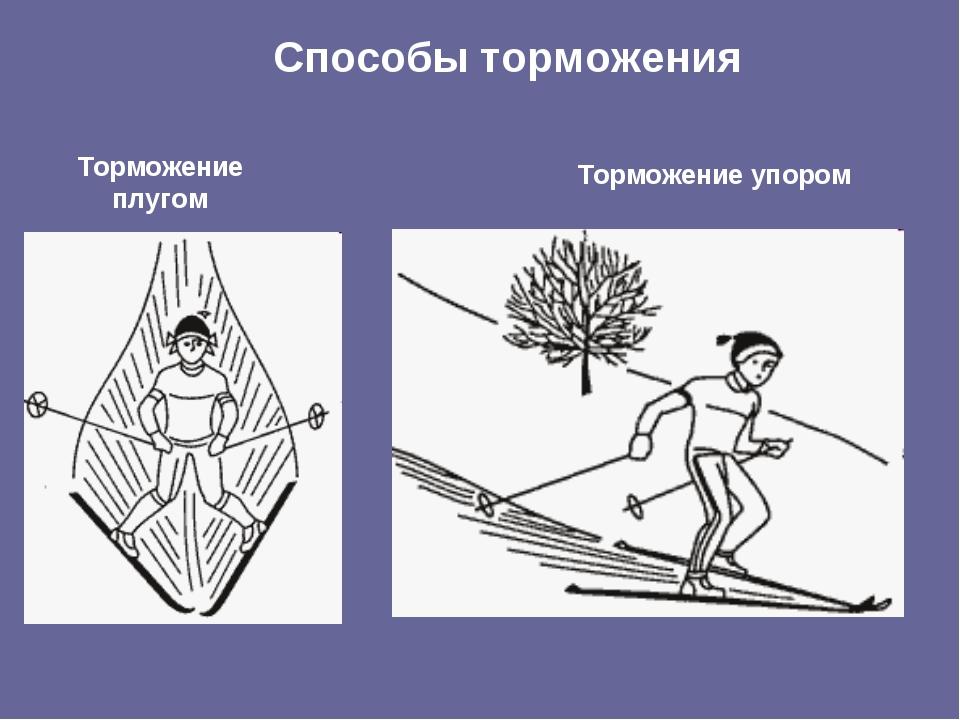 Виды торможения на лыжах с картинками