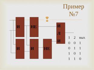 Пример №7 * * 12вых 001 011 101 110