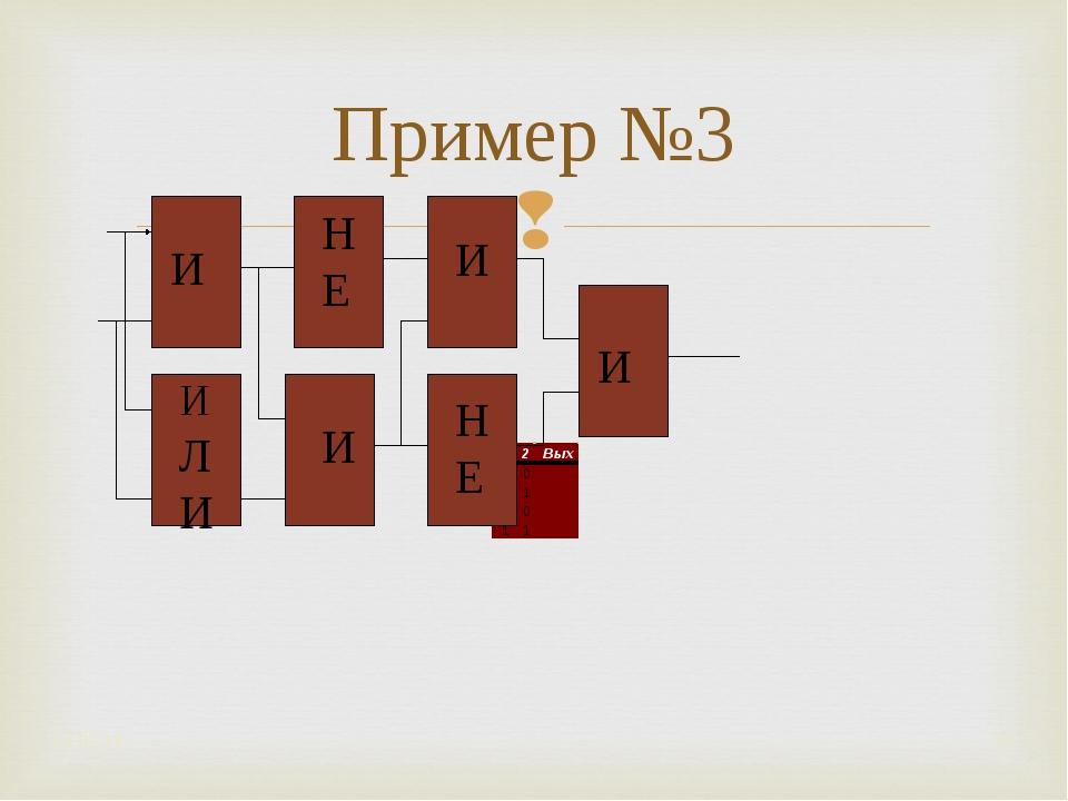 * * Пример №3