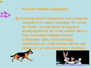 Рассказ «Зверь бурундук» В этом рассказе говорится, что у многих зверей есть