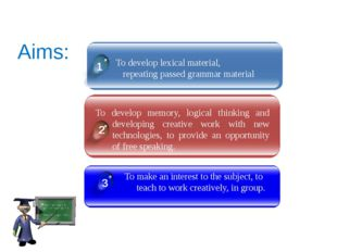 To develop lexical material, repeating passed grammar material To develop me