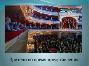 Зрители во время представления