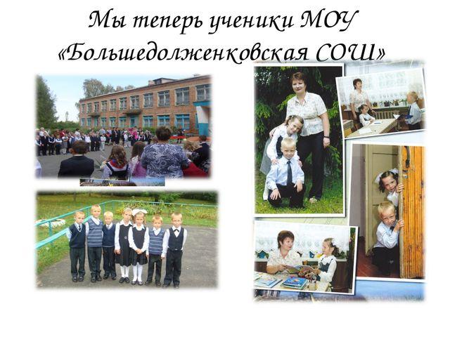 Мы теперь ученики МОУ «Большедолженковская СОШ»