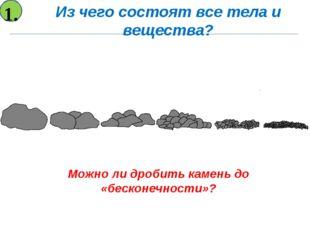 Можно ли дробить камень до «бесконечности»? Из чего состоят все тела и вещест