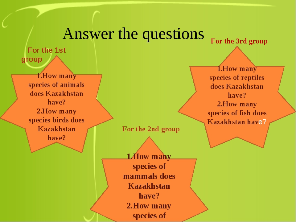 Answer the questions 1.How many species of animals does Kazakhstan have? 2.H...