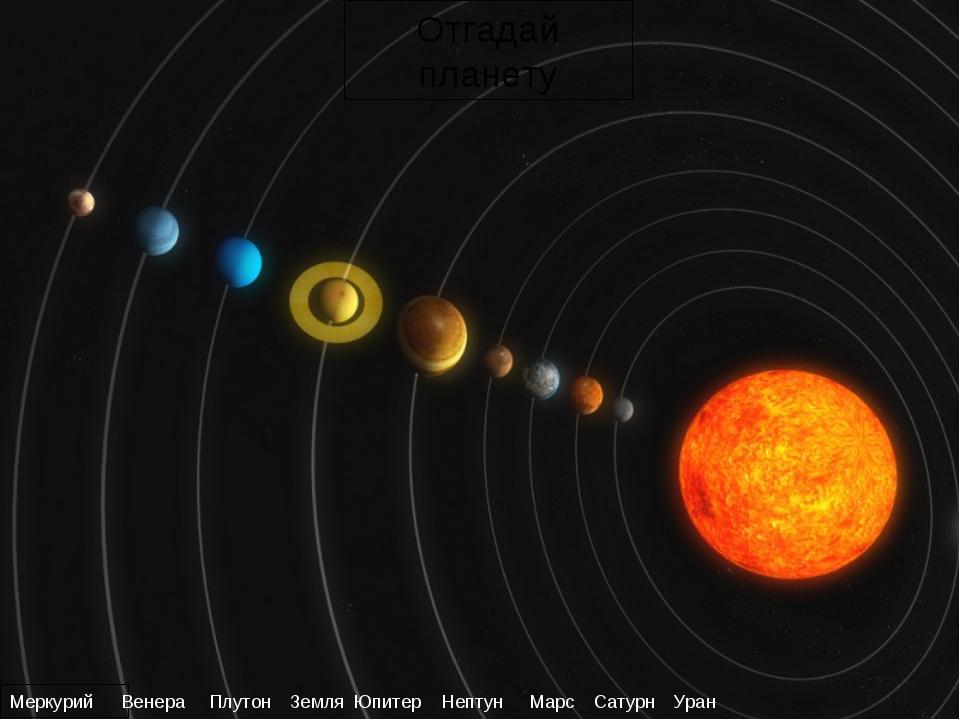 Меркурий Венера Земля Марс Юпитер Сатурн Уран Нептун Плутон Отгадай планету