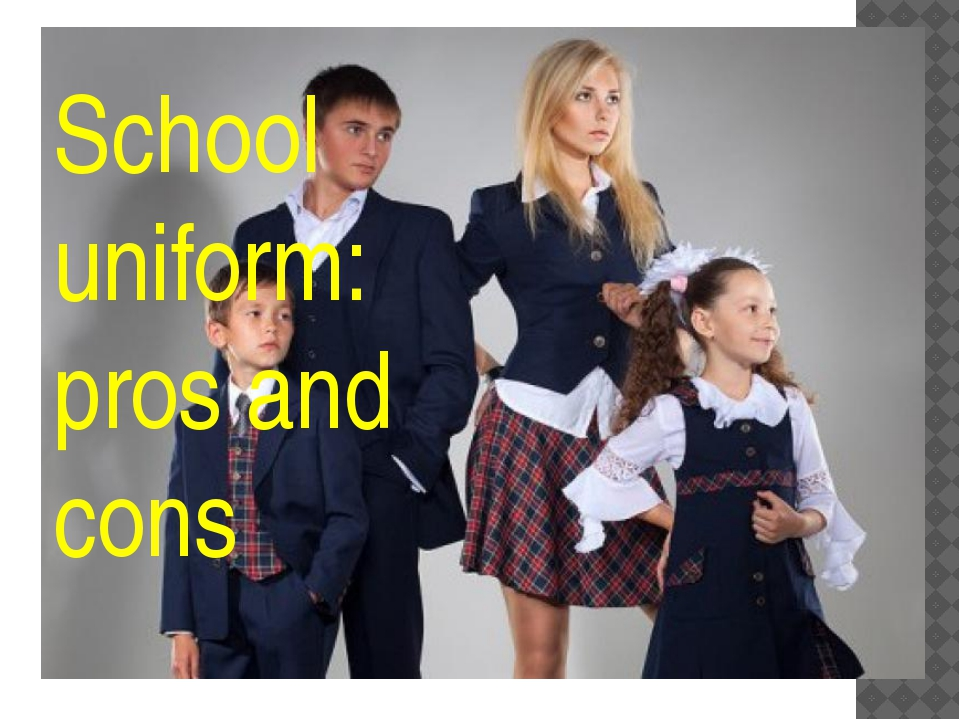 School uniform: pros and cons