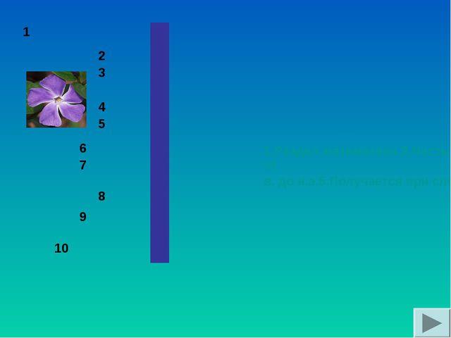 1.Раздел математики. 2.Часть прямой, лежащая между двумя ее точками. 3.Длинн...