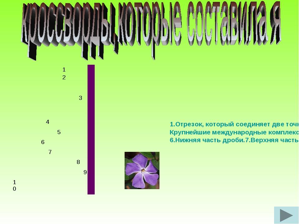 1.Отрезок, который соединяет две точки окружности и проходит через ее центр....
