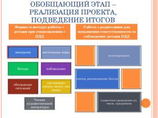 ОБОБЩАЮЩИЙ ЭТАП – РЕАЛИЗАЦИЯ ПРОЕКТА, ПОДВЕДЕНИЕ ИТОГОВ Формы и методы работы
