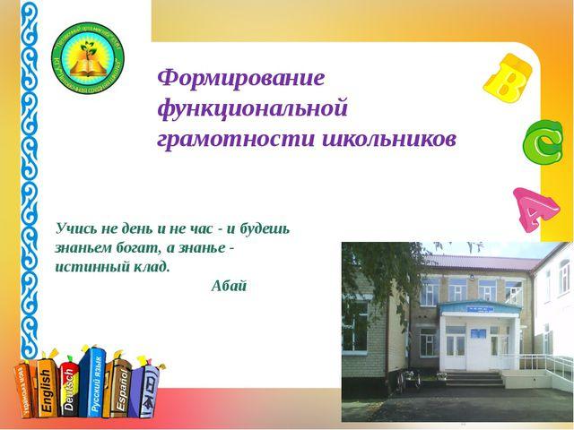Формирование функциональной грамотности школьников Учись не день и не час -...