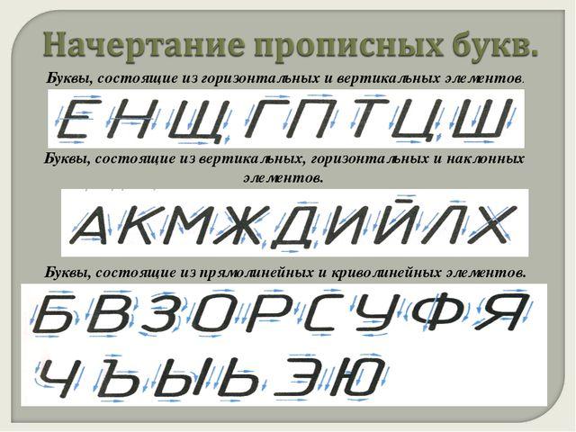 Буквы, состоящие из горизонтальных и вертикальных элементов. Буквы, состоящие...