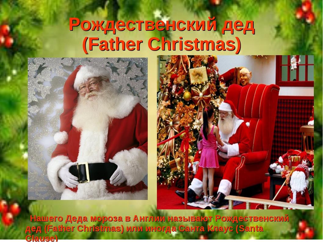 Рождественский дед (Father Christmas) Нашего Деда мороза в Англии называют Ро...