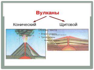 Конический вулкан