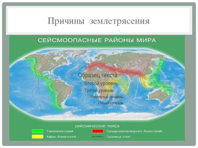 Причины землетрясения