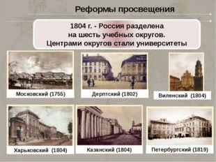1803 год – в губернских городах начали создаваться гимназии Вгимназиях препо