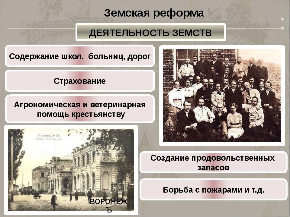 В1870г. была осуществлена ГОРОДСКАЯ РЕФОРМА ВОРОНЕЖЪ Городская реформа