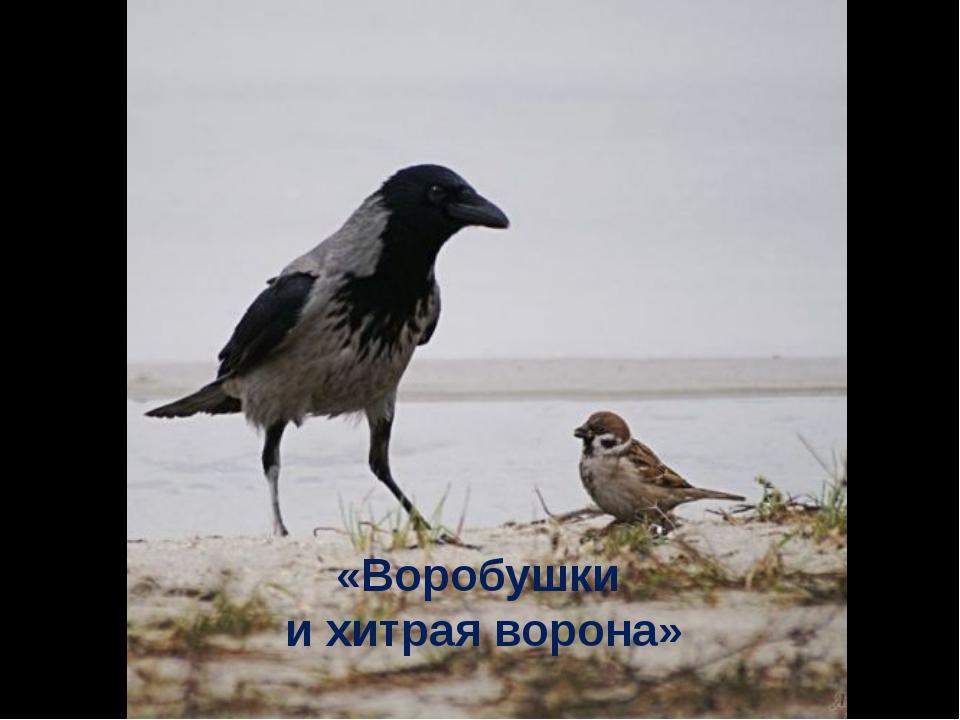 «Воробушки и хитрая ворона»