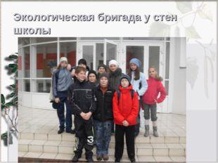 Экологическая бригада у стен школы