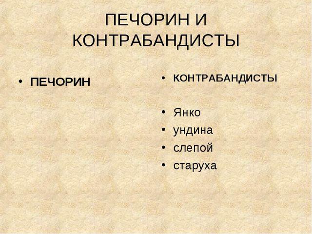 ПЕЧОРИН И КОНТРАБАНДИСТЫ ПЕЧОРИН КОНТРАБАНДИСТЫ Янко ундина слепой старуха
