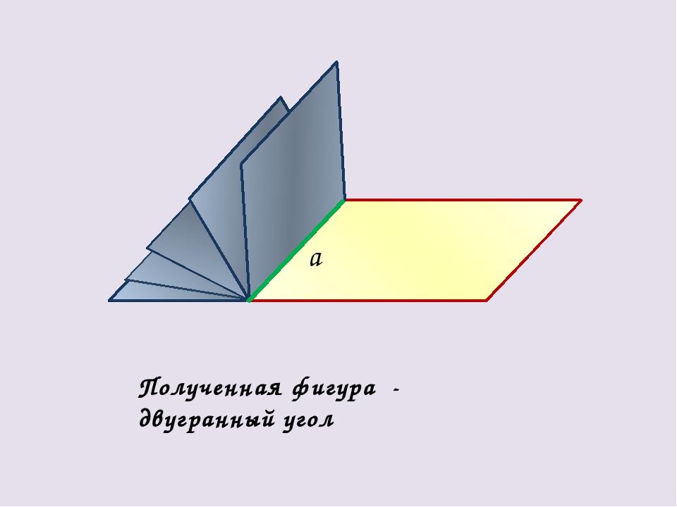 а Полученная фигура - двугранный угол