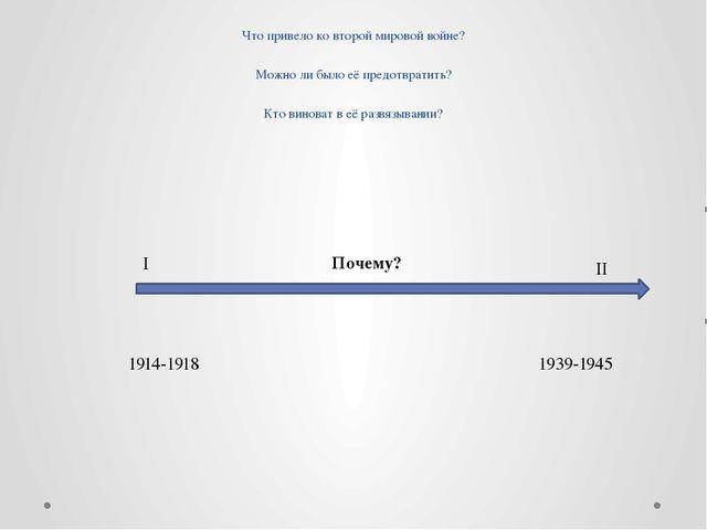 Что привело ко второй мировой войне? Можно ли было её предотвратить? Кто вино...