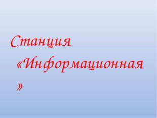 Станция «Информационная»