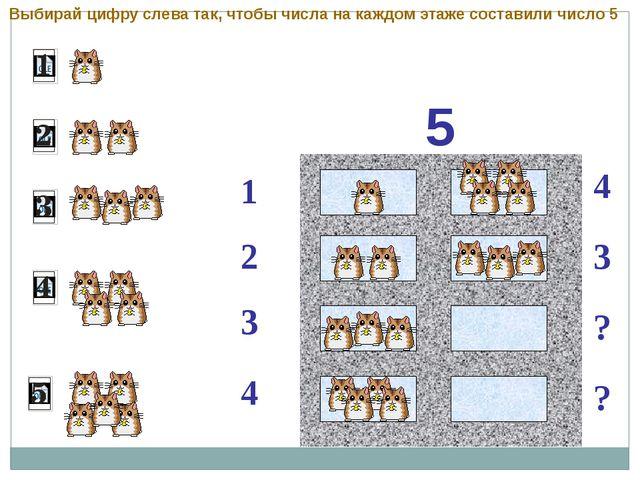 5 1 2 4 3 3 ? ? 4 Выбирай цифру слева так, чтобы числа на каждом этаже соста...