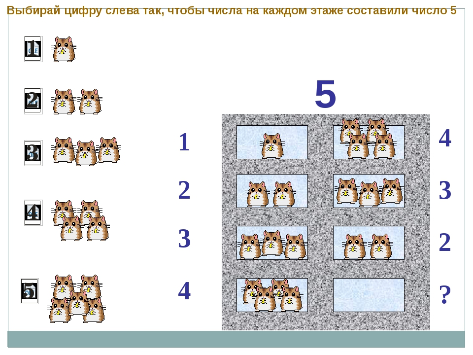 5 1 2 4 3 3 2 ? 4 Выбирай цифру слева так, чтобы числа на каждом этаже соста...