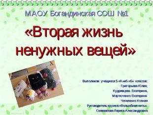 МАОУ Богандинская СОШ №1 Выполнили учащиеся 5 «А»и5 «Б» классов: Григорьева Ю