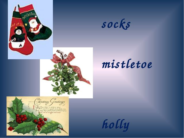 socks mistletoe holly