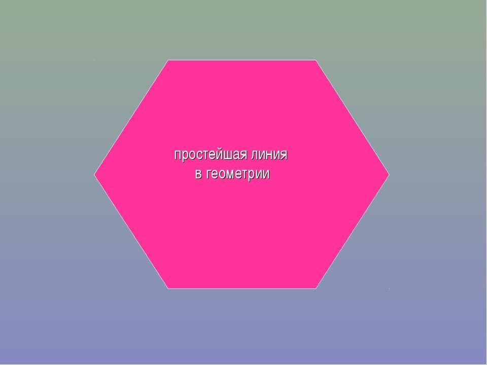 простейшая линия в геометрии